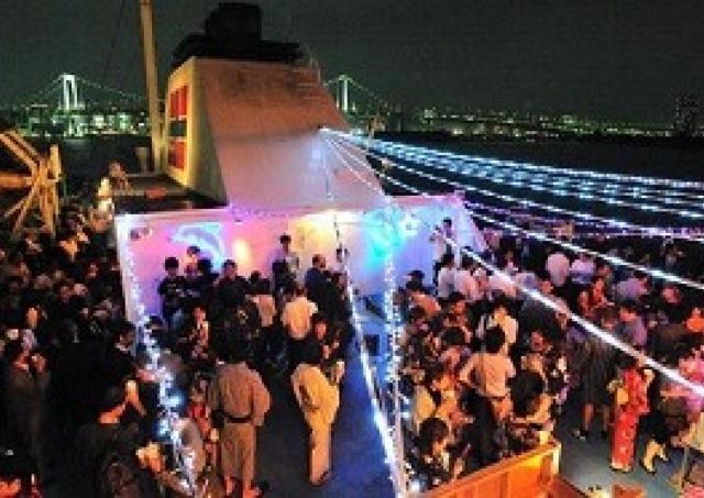 東京湾をぐるっと周遊「納涼船」 浴衣なら1000円お得に