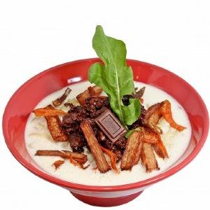 ロッテ×麺屋武蔵のチョコラーメン 今年は「パチパチ」音が鳴る!?