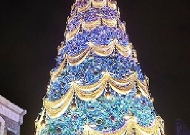 「一生に一度見たいツリー」ランキング1位 USJの「世界一の光のツリー」ライトアップ