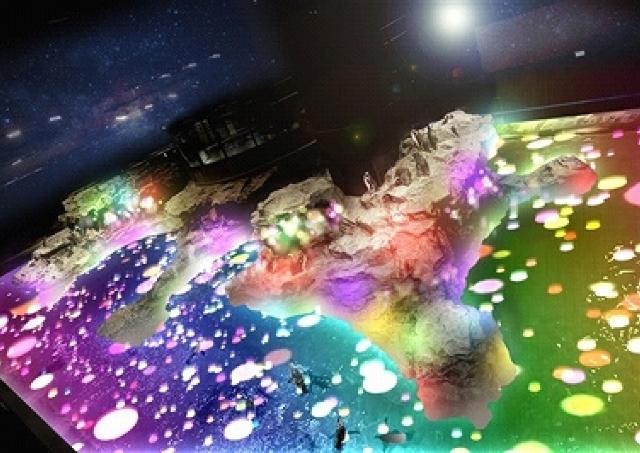 ペンギンを包む「光のキャンディー」 すみだ水族館の3周年プロジェクションマッピング