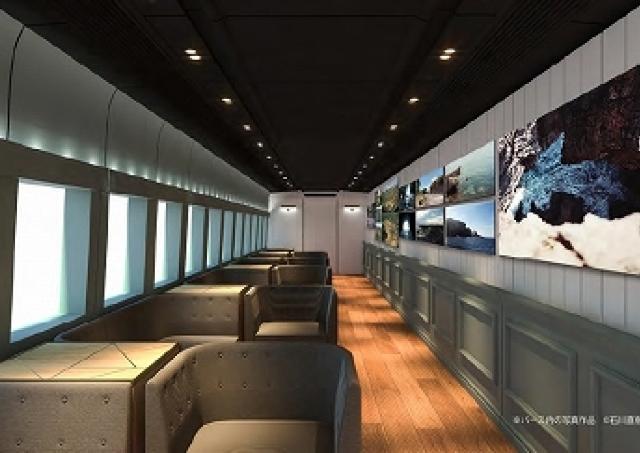 上越路を「美術館」が走る 新幹線車両を改造した「GENBI SHINKANSEN」
