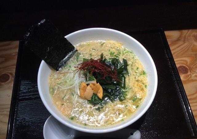 1日5杯限定 ウニ×塩ラーメンの「うにらぁめん」が麺屋海神立川店に登場