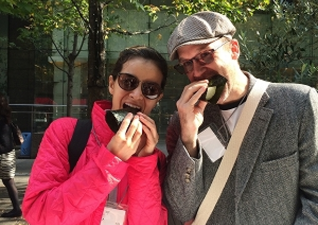 東京マラソンに合わせて作られた「アスリートおにぎり」が食べられる 「東京味わいフェスタ」に出店
