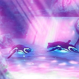 光と戯れるペンギンたちとピクニック! すみだ水族館で新プロジェクションマッピング始まる