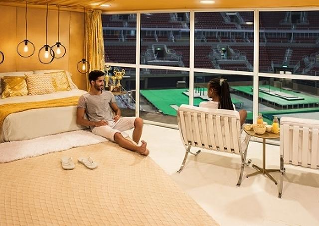 リオ・オリンピック・アリーナに泊まる夢企画 一晩ずっとアスリート気分