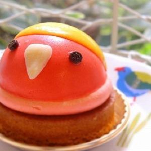 「恋に生きる小鳥」ラブバードの新作ケーキ 大切な人と一緒にどうぞ♪