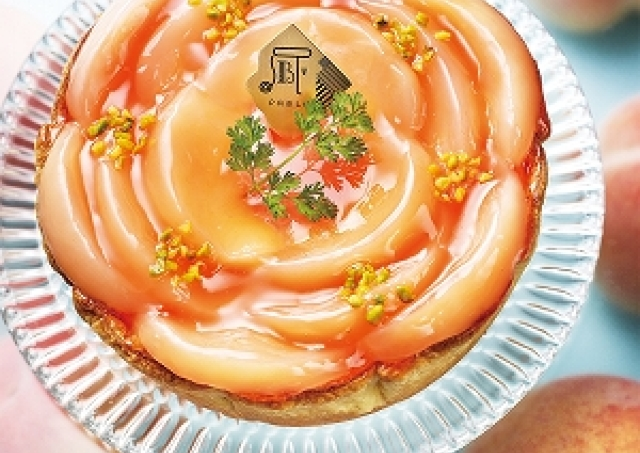 まるでバラの花みたい! 美しすぎるパブロ「白桃とヨーグルト」のチーズタルト