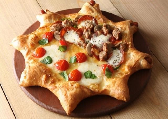 ピザーラからかわいい星形ピザ WEB注文限定のニューフェイス