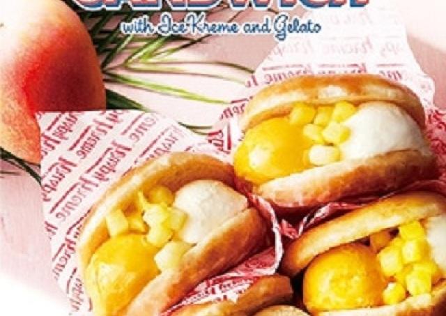 マンゴー&バニラが夏っぽい! クリスピーのひんやりドーナツサンドに新フレーバー