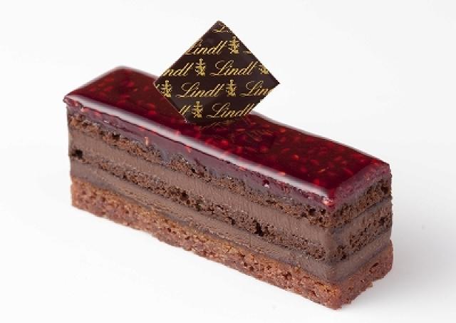 リンツ ショコラ カフェに新メニュー フランボワーズの宝石ケーキ