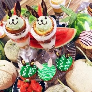スイカ&メロンのうさぎシュークリームも 大人気のアフタヌーンティーセットに夏がやってきた