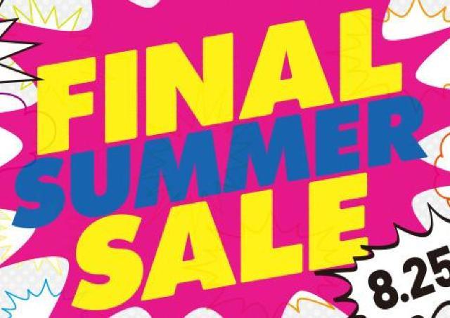 約140店舗が夏物最終売り尽くし!マリノア「ファナルサマーセール」