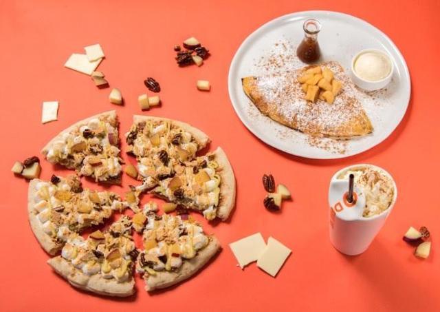 チョコレートピザの上にほくほくサツマイモ マックス ブレナーにも秋到来!