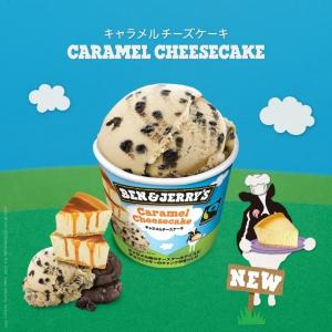 ベン&ジェリーズ お店で人気の「キャラメルチーズケーキ」がミニカップでデビュー