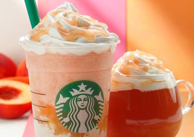 スタバ新作フラペは「ピーチ×紅茶」 ババロアのコクと桃のピンク色がかわいい!