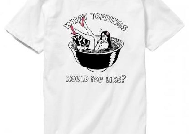 トッピングが何回でも無料! 夢のようなおしゃれラーメンTシャツ発売