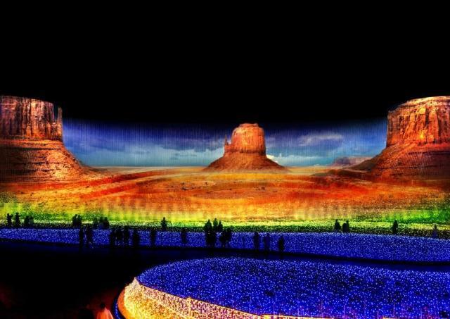 【写真付き】史上最大の圧倒的スケール!「なばなの里」イルミネーション 5つの大地の絶景パノラマ