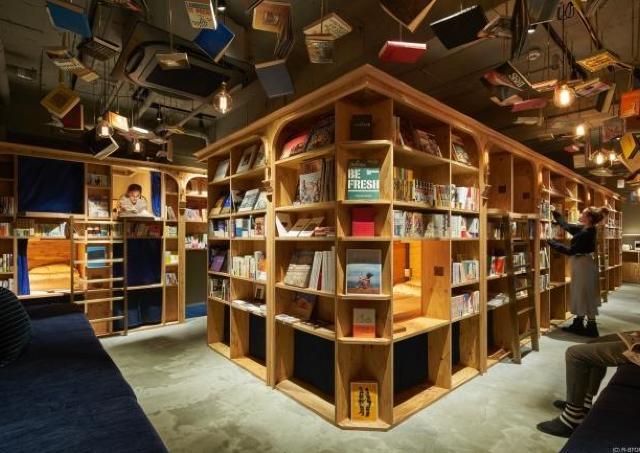 泊まれる本屋が京都にオープン ビールも一緒にどうぞ