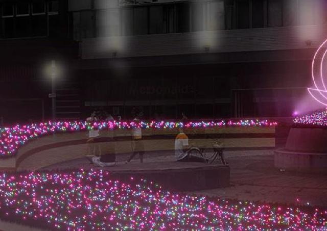ことしのテーマは「桃太郎 クリスマスをとどける」イルミ