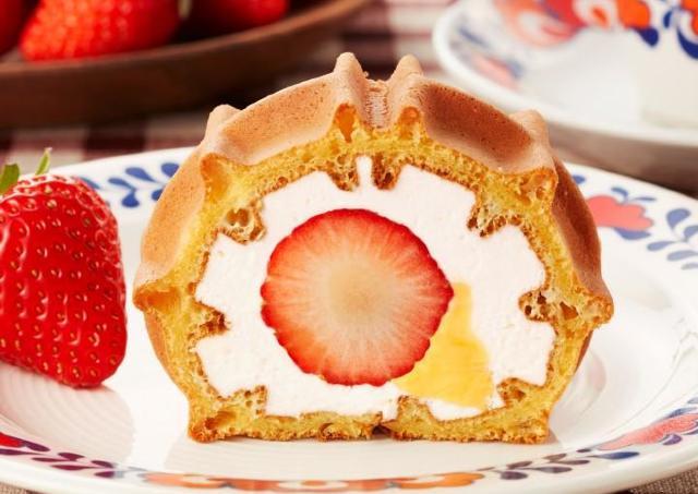あまおうがごろっと入ったワッフル 1月15日(いちごの日)に食べたいっ!