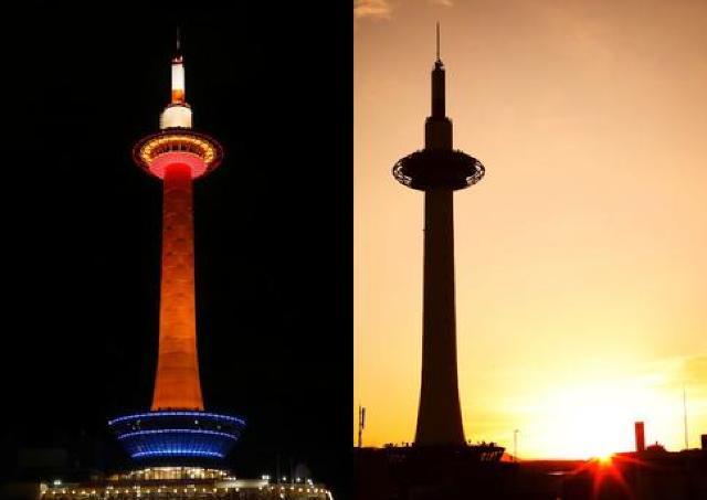 毎年好評! 京都タワー地上100メートルの展望台から初日の出を