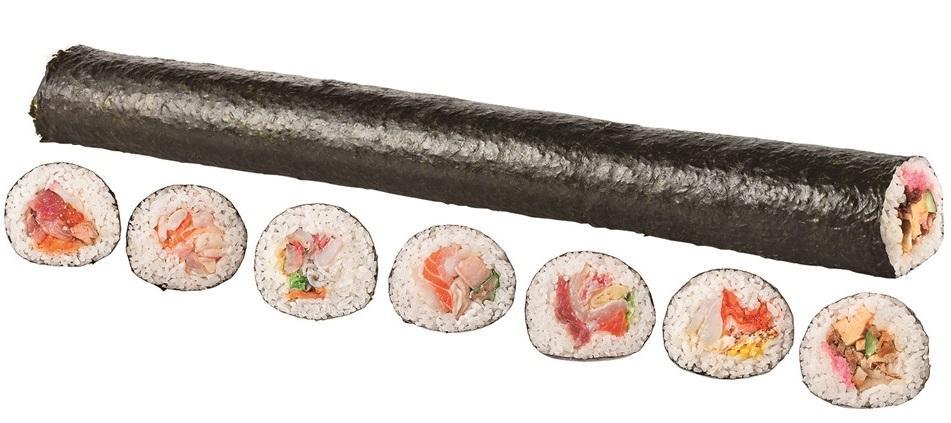 過去最多の55品目入りの海鮮ロング恵方巻き