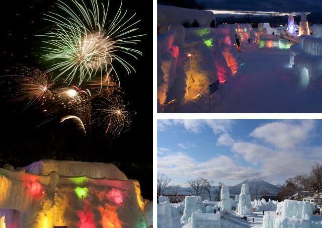 支笏湖ブルーの輝きで、寒気が歓喜に変わる「千歳・支笏湖氷濤まつり」