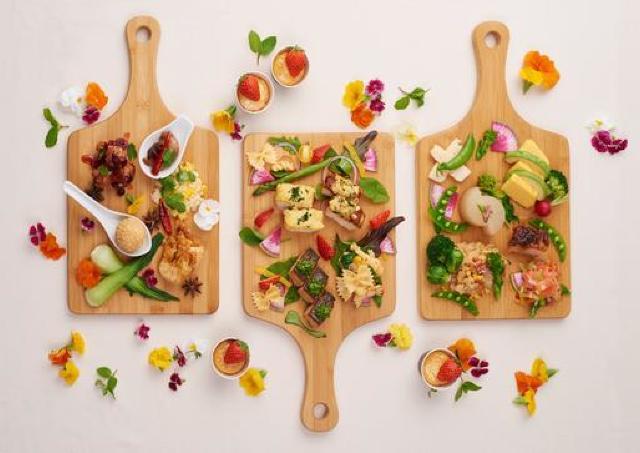 野菜たっぷりビュッフェ 春の食彩メニューで旬食材を好きなだけどうぞ