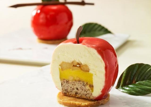 NY「ビッグ アップル」イメージしたリンゴケーキがリアルでかわいい