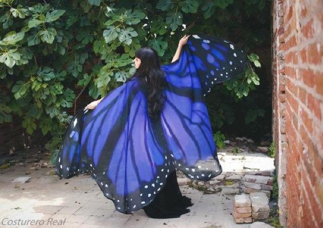 本物の羽のような「蝶の羽ケープ」 美しい透け感が個性的!