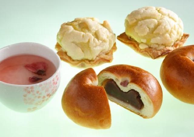 桜フレーバーのスイーツやパン、緑茶などがシェラトン都ホテル大阪に