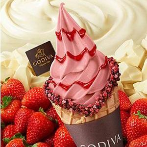イチゴたっぷりフルーティー! ゴディバの「ホワイトチョコレートストロベリー」期間限定