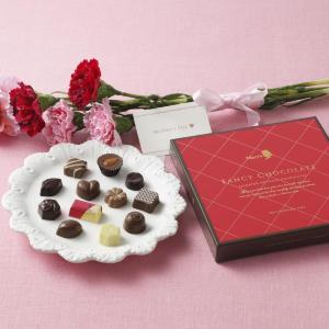 メリーチョコレートが嬉しい母の日企画 人気チョコにカーネーション添えます