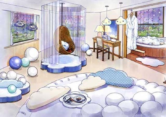 ふわふわ雲がテーマのスイートルーム 「星野リゾートリゾナーレトマム」に登場