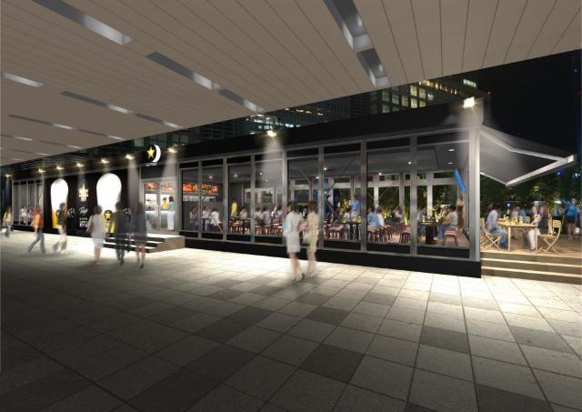 新宿駅に大人のビヤガーデン こだわりの「パーフェクト黒ラベル」を体感