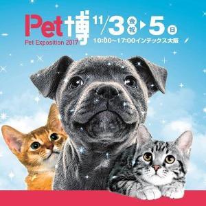 【プレゼント】ペットファンのための恒例イベント『Pet博2017 大阪』ご招待券(10組20名様)