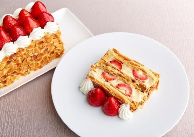 【朗報】閉店したマキシム・ド・パリの「苺のミルフィーユ」が復活していた!