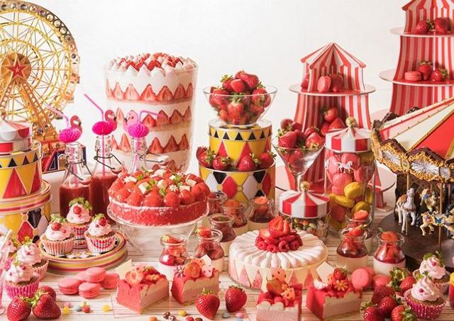 人気の苺デザートブッフェ「魅惑のストロベリーサーカス」開催中