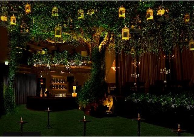 老舗シャンパン「ヴーヴ・クリコ」の森、六本木に出現