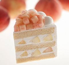 1日20個限定の「スーパーピーチショートケーキ」