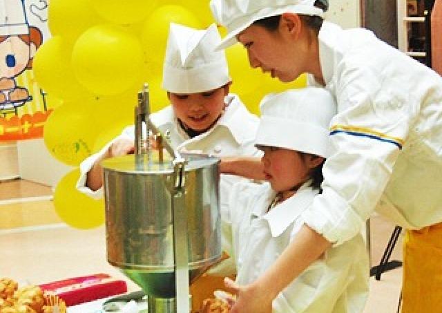料理キッズ集まれ 「イオン倉敷」でシュークリーム&パン作り体験教室