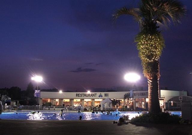夜のプールが「南国ビアガーデン」に よみうりランドで常夏経験♪