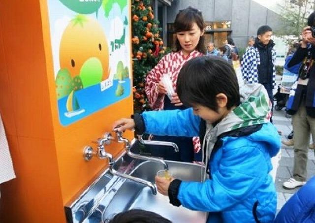 都市伝説「蛇口からみかんジュース」を体験 東京タワーのオレンジデー