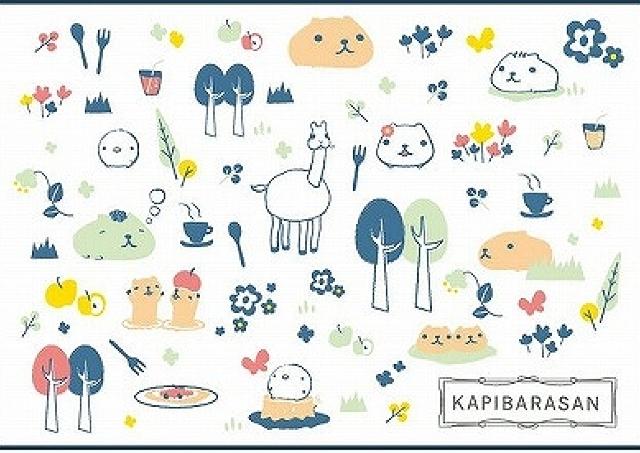 自分でデコれるカピバラさんメニューも 「KAPIBARASAN ほきゅお~の森CAFE」