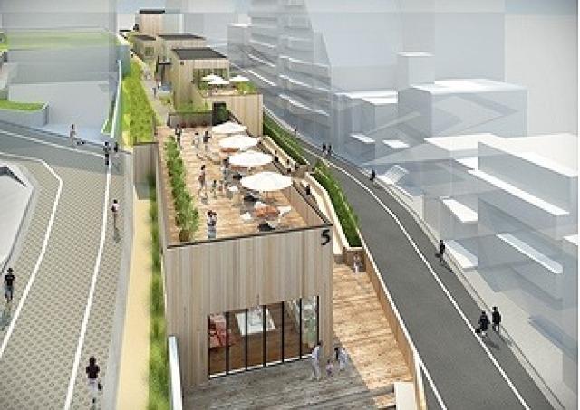 東急東横線代官山駅の線路跡地が開発 5棟の商業施設が2015年春開業