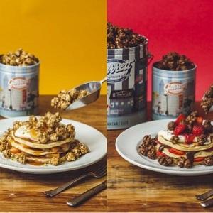 ポップコーン好きなだけかけて食べる斬新パンケーキ J.S. PANCAKE CAFEとギャレットポップコーンが夢のコラボ!