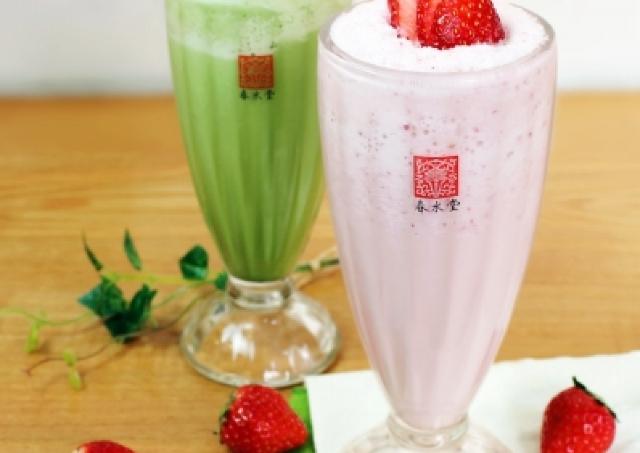 台湾発「春水堂」に日本限定スムージー イチゴと柚子抹茶の春限定味
