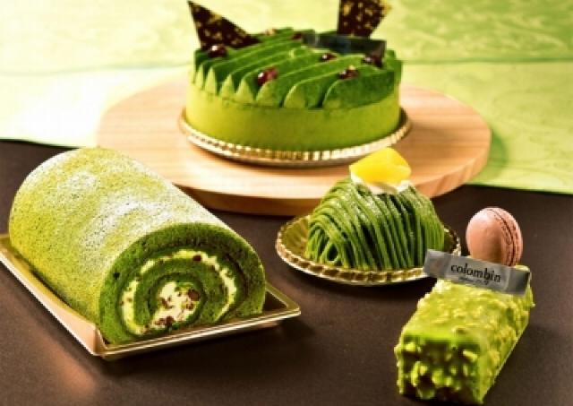 コロンバンが新緑の「抹茶フェア」 モンブラン、オペラ、ロールケーキも深緑一色!