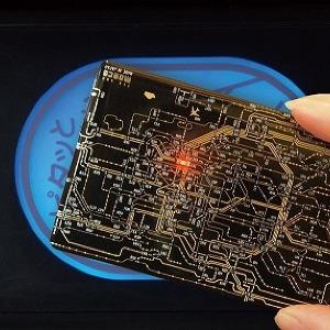「東京路線図」の基盤ICカードケース 改札のタッチで光るぞ!!