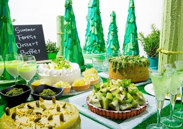 珍しい!「緑色」がテーマのデザートブッフェ ケーキもタルトもグリーン尽くし